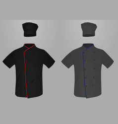 chef uniform shirt and hat vector image