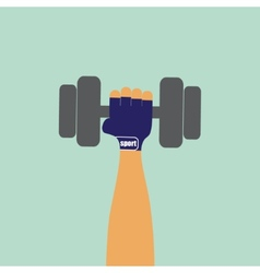 Hand with dumbbell vector