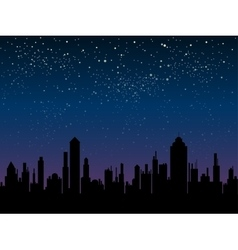 silhouette of the city Star sky Eps 10 vector image