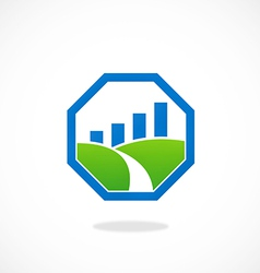 stop landscape graph business logo vector image vector image