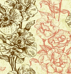 Vintage seamless floral pattern vector image vector image
