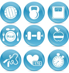 Gym and exercise icons vector image