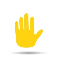 hand gesture greeting icon vector image