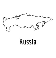 russia map thin line simple vector image