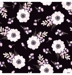 seamless pattern with flower bouquet vector image vector image