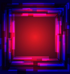 Abstract colored square frame vector image vector image
