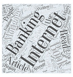 Books on Internet Banking Word Cloud Concept vector image