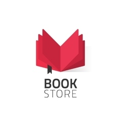 Bookstore logo isolated on vector image vector image