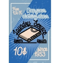 Color vintage laundry poster vector image vector image