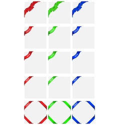 corner set vector image