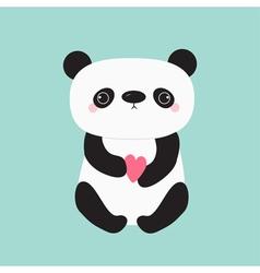 Kawaii panda baby bear Cute cartoon character vector image vector image