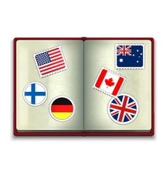 Open Passport vector image vector image