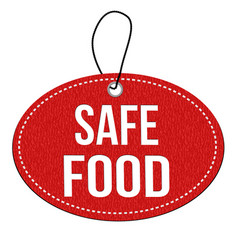 safe food label or price tag vector image