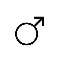 Sign men icon male gender vector image