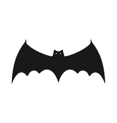 Black silhouette of bat Flat icon object vector image vector image
