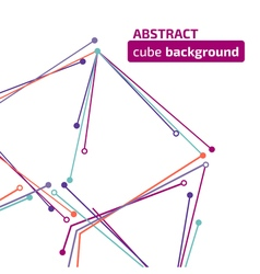 Cube background vector image