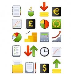 financial web icon vector image