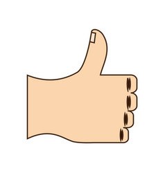 thumb up hand like vector image vector image