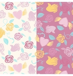 Valentine seamless pattern on a transparent vector image vector image