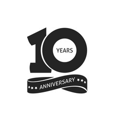 10 years anniversary pictograph icon 10th vector