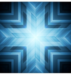 Abstract blue technology background vector