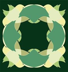abstract fresh green design vector image