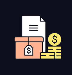 Accounts receivable rgb color icon for dark theme vector