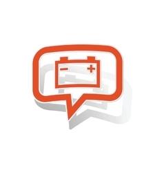 Accumulator message sticker orange vector