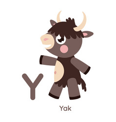 Alphabet letter y yak vector