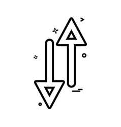 arrow up down way icon design vector image