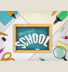 back to school concept with education vector image