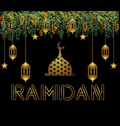 beautiful ramadan kareem background vector image