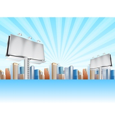 billboards and city vector image