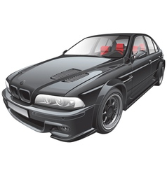 black custom car vector image