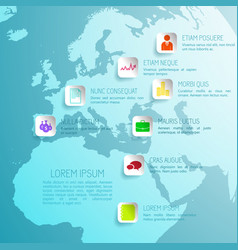 business infographic global concept vector image