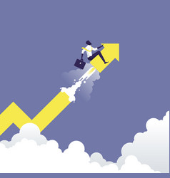 business start up and growth success concept vector image