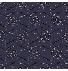 Celestial bohemian pattern vector