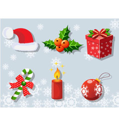 Christmas set of icons collection 2 vector