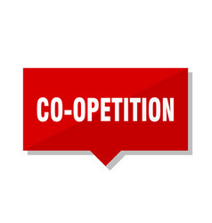 Co-opetition red tag vector