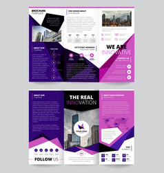 Company report flyer templates vector