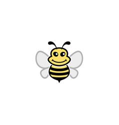 creative bumble bee logo vector image