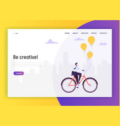 creative business idea concept landing page vector image