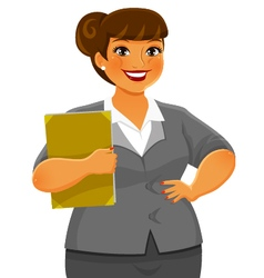 curvy business woman vector image