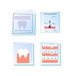 dentistry posters vector image