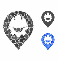 Development helmet marker composition icon of vector