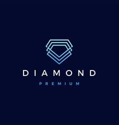 Diamond logo icon vector