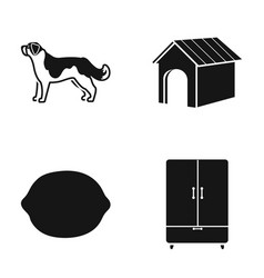 dog dog booth and other web icon in black style vector image