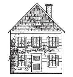 Drawing a house 3 perspective with a vanishing vector