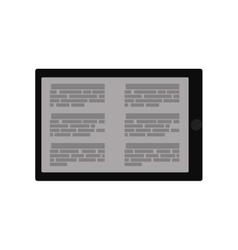 ebook tablet internet web lerning icon vector image
