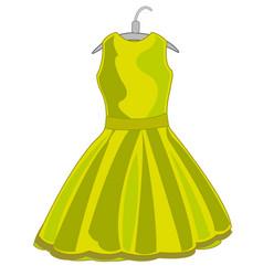 Feminine cloth gown vector